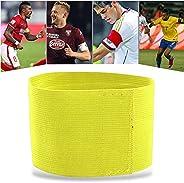 Durable Captain Armband, Loop Design Elastic Band Sports Team Match Soccer Captain (Orange)