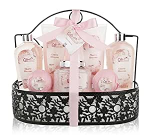 8bbcb2f29c1 Amazon.com   Spa Gift Basket with Heavenly Cherry Blossom Fragrance ...