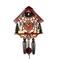 Adolf Herr Quartz Cuckoo Clock - Magic Red
