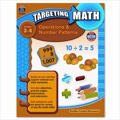 Teacher Created Resources 8994 Teacher Created Resources Targeting Math, Operations/Number Patterns, Grade -
