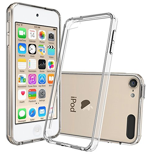 IPod Touch 5 Cases ,Ipod Touch 6 Cases with HD Screen Protector, AnoKe [Scratch Resistant] Acrylic Hard Cover With TPU Bumper Women Girls Men Ultra Slim Fit Protective Case for Ipod Touch 5 6 TM Clear (Ipod Feel)
