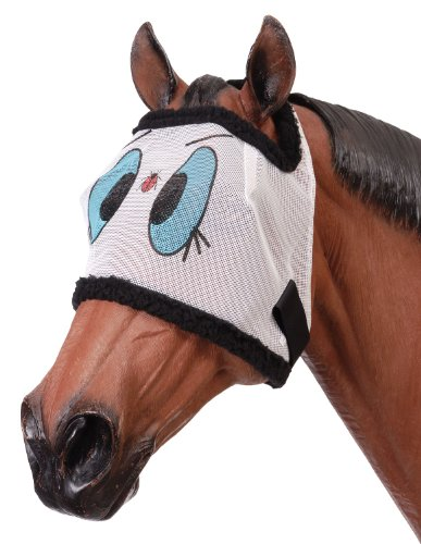Tough 1 Miniature Novelty Ladybug Mesh Fly Mask, Large ()