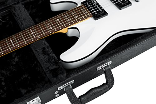 d640b6b746 Gator Cases Hard-Shell Wood Case for Standard Electric Guitars; Fits Fender  Stratocaster/