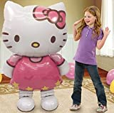 New Large Size Hello Kitty Cat Foil Balloons Cartoon Birthday Decoration Wedding Party Inflatable Air Balloons Classic Toys by XCL