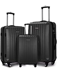 Fochier Luggage 3 Piece Spinner Luggage Set Lightweight Suitcase