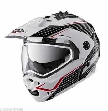 Caberg Tourmax Sonic, color blanco, rojo y negro casco de moto