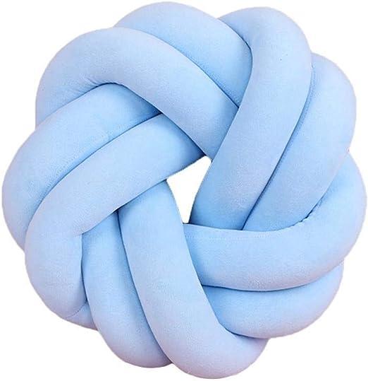 Knitting Knot Cushion Ball Chunky Pillow Handmade Plush Knot Throw Home Decor D@
