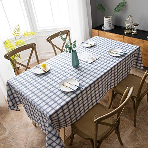 Aquazolax Plaid Table Cloth Decorative Table Cover for 7 Foot Rectangle Table, 54
