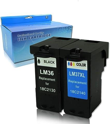 ouguan 2 x Compatible Cartuchos de tinta de impresora Lexmark 36 ...