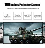 100 inch Projector Screen HD 16:9 Diagonal Outdoor Movie Projector Screen Curtain Matte White