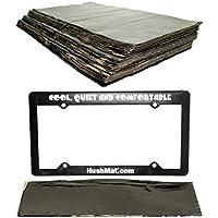 HushMat 10500 Sound Damping Bulk Kit / 30 Black Sheets + 10600 License Plate Kit