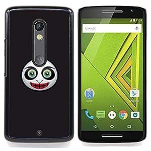 Jordan Colourful Shop - Evil Mask Face For Motorola Verizon DROID MAXX 2 / Moto X Play - < Personalizado negro cubierta de la caja de pl??stico > -