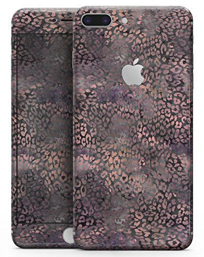 (Black and Purple Watercolor Leopard Pattern - Design Skinz Premium Full-Body Decal Skin-Kit for the Apple 5.5