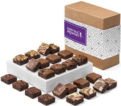 - Fairytale Brownies Magic Morsel 24 Gourmet Chocolate Food Gift Basket - 1.5 Inch x 1.5 Inch Bite-Size Brownies - 24 Pieces - Item CF424
