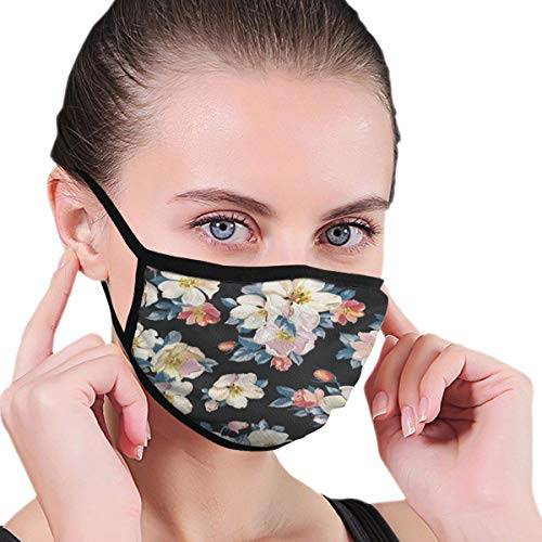 Funny Mouth Cover Dustproof Washable Reusable Vintage Floral Flowers Customized Respirator Protective Safety Warm Windproof for Women Men