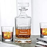 Classic Whiskey Decanter - Jack Daniel's - Engraved 3pcs