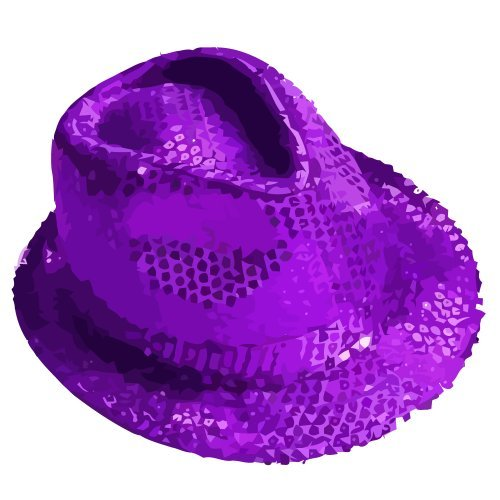 Sequin LED Fedora - Trilby Hat with Lights!- Color: Purple by Glitz, Glitter and (Glitter Fedora Hats)