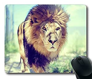 Hipster lion Masterpiece Limited Design Oblong Mouse Pad by Cases & Mousepads