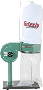 Grizzly Industrial G8027 - 1 HP Dust Collector