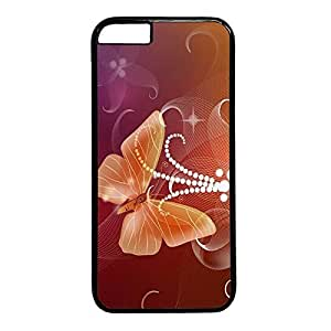Butterfly Custom Back Phone Case for iphone 6 4.7 PC Material Black -1218219