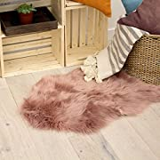 Jean Pierre Faux-Fur 24 X 36 in. Runner Area Rug, Blush