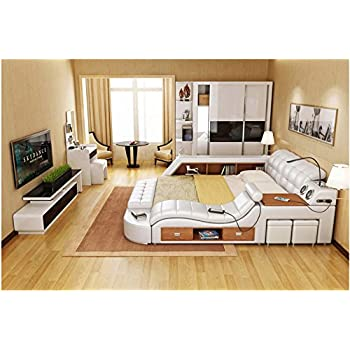 All in one double bed frame with speakers - All in one double bed ...
