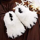 Cute Fuzzy Bear Claw Slippers Fluffy Animal