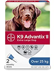 K9 Advantix II Flea and Tick Treatment for Extra Large Dogs weighing over 25 kg (over 55 lbs.) - 2 pack
