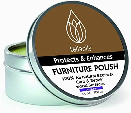 Beeswax Furniture Polish with Lavender, 100% natural, for any kind of wood, nourishing, renewing, sealing, covering scratches, protecting from drying out, ...