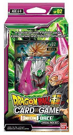 Game 4 Booster Pack (Dragon Ball Z Super Union Force TCG Special Pack English Card Game - 4 boosters + promo!)