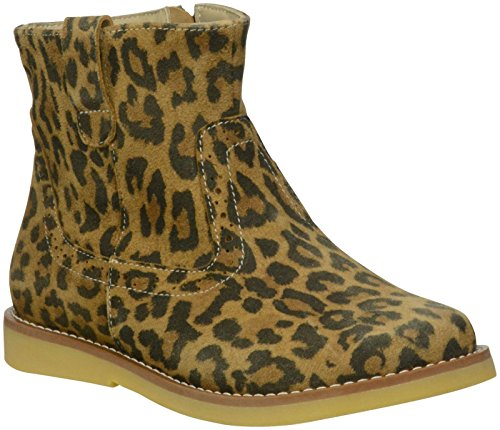Elephantito Girls' Madison Ankle Boot  - Suede Leopard Leath