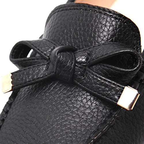 Silver Gold Loafers Time On Black Bowtie Slip Flat Dear Woman Walking Shoes xXOYqH1X