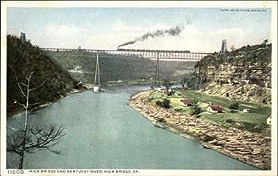 High Bridge and Kentucky River High Bridge Original Vintage Postcard