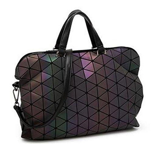 haut bandoulière géométriques carreaux grande Laser Silver à à gamme taille main de Sacs à Hologram Sac qwvSS