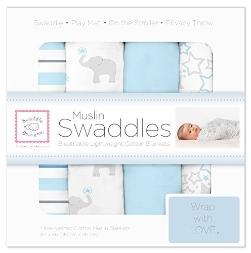 SwaddleDesigns Swaddle Blankets Elephant Starshine