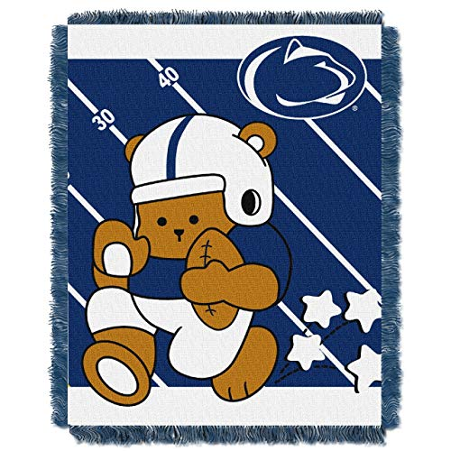 The Northwest Company Officially Licensed NCAA Penn State Nittany Lions Fullback Woven Jacquard Baby Throw Blanket, 36