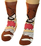 Looney Tunes Tasmanian Devil Lil Taz Crazy Photo Real Men's Crew Socks, Multi, Shoe: 6-12