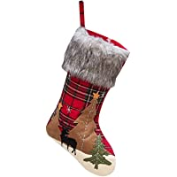 Khaco Christmas Stocking Hanging Christmas Stockings Plaid Christmas Trees Christmas Decorations for Family Holiday…