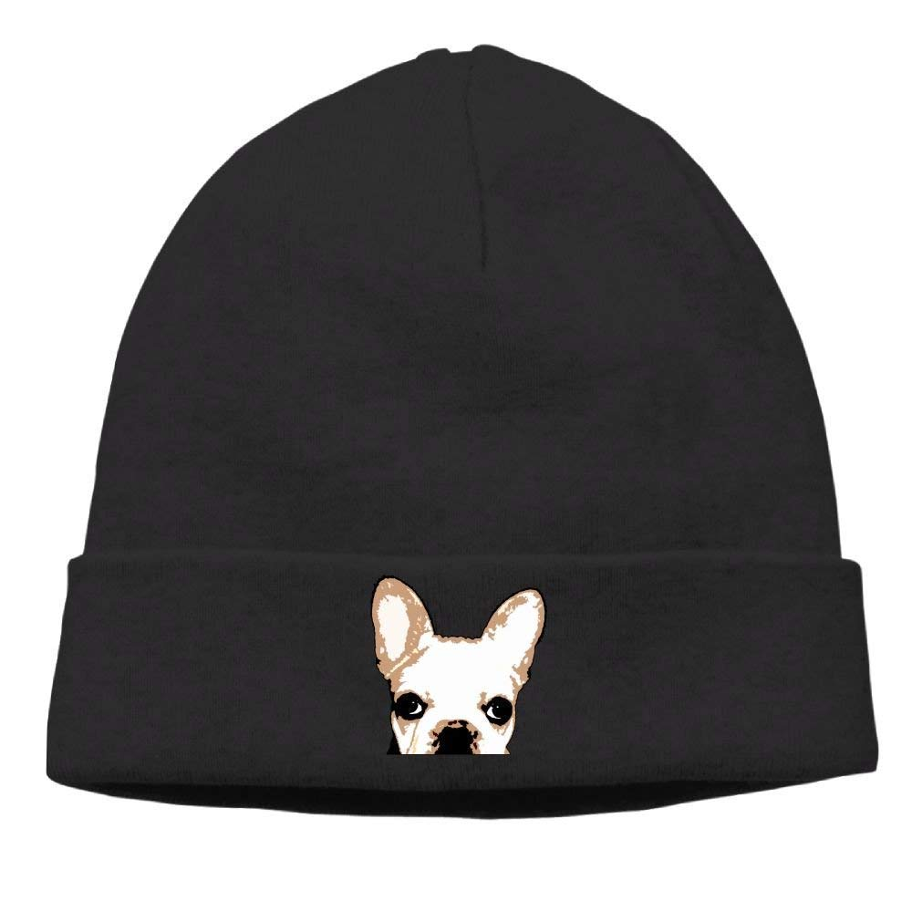 Ustcyla Men French Bulldog Funny Hip-Hop Black Beanies Skull Hat