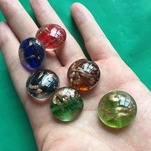 60 pcs 20mm Handmade Bead Round LAMPWORK Glass Multi Spacer Beading Jewellery