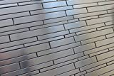 SAMPLE SWATCH - Stainless Steel Random Strips Mosaic Tiles