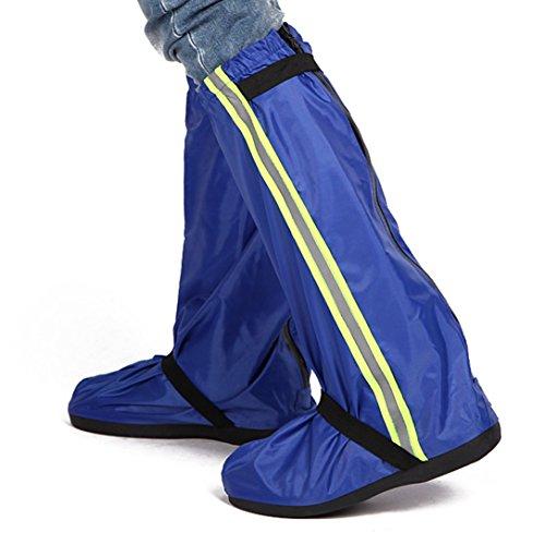 überschuh Lluvia Zapatos, resistente al agua guantes ciclismo antideslizante zapatos überzieher perfectamente Protegida Contra Lluvia, nieve y barro azul