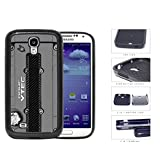 Honda JDM Series 2-Piece Dual Layer High Impact Black Silicone Phone Case Samsung Galaxy s4 sIV I9500 (Gray)