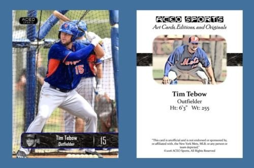 tim-tebow-new-2016-aceo-baseball-rookie-card-new-york-mets-in-a-one-touch-magnetic-case