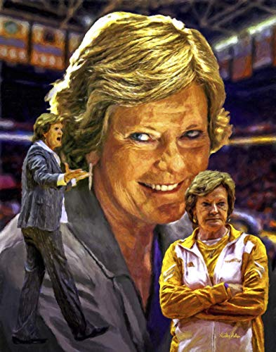 (Pat Summitt UT Lady Vols Tennessee Volunteers Womens Basketball NCAA College Art Print 11x14-24x30)