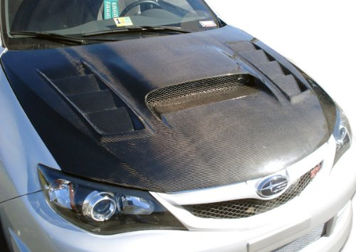 (Carbon Creations Replacement for 2008-2011 Subaru Impreza 2008-2014 WRX STI GT Concept Hood - 1 Piece)