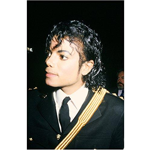 (Michael Jackson King of Pop Head Shot in Uniform 8 x 10 Inch Photo)