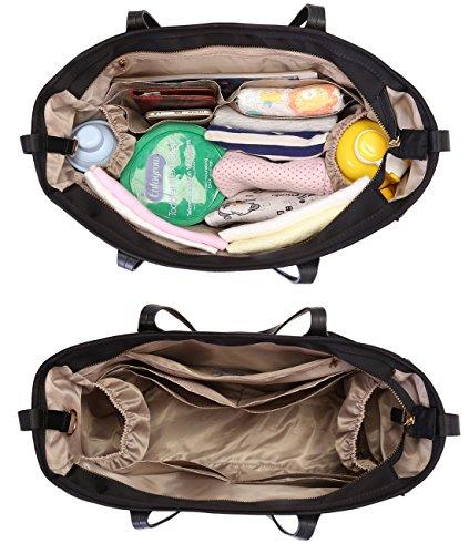 mommore Diaper Bag Totes Large Purses for Women, Black