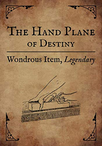 RPG Journal: Blank college ruled notebook for role playing gamers: Wondrous Item: Hand Plane of Destiny