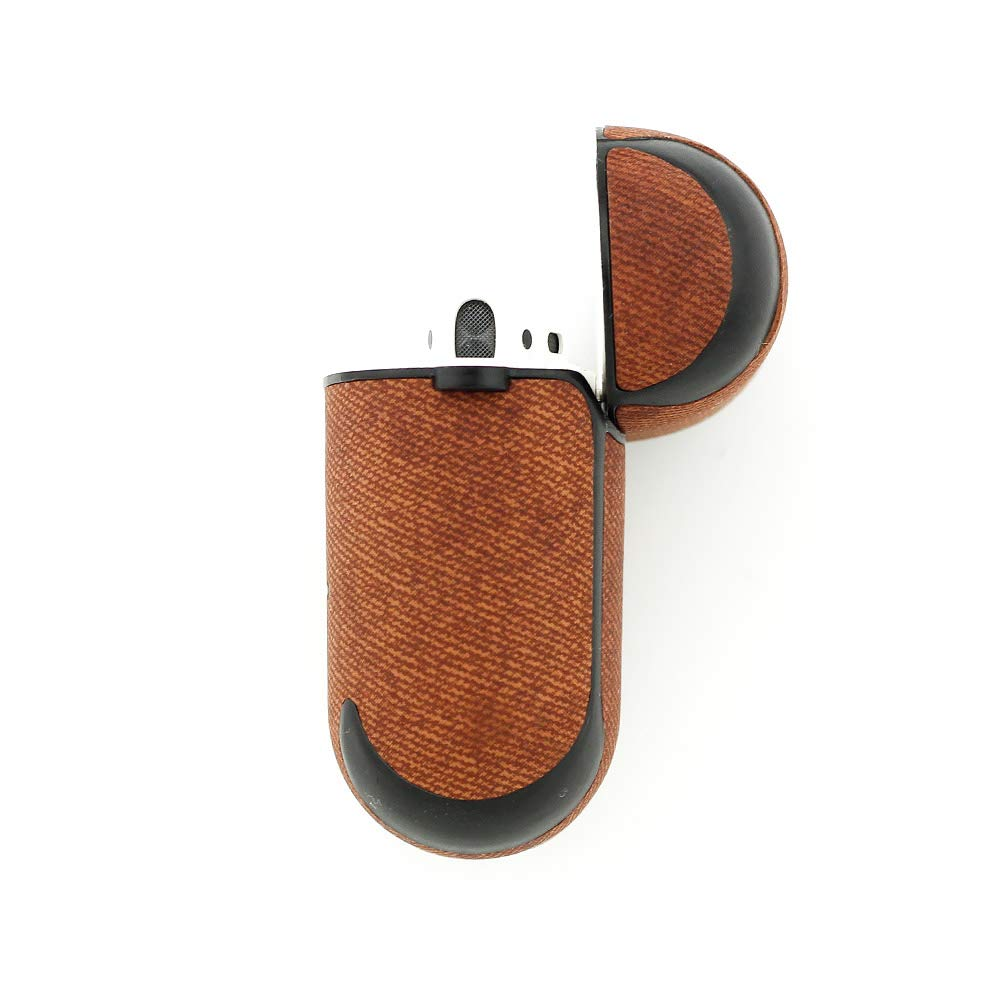 Leather Case for AirPod 1 /& 2,Menesia Protective Gray Cover for Apple Airpods,Silicone Skin Inside,Dust Guard Accessories